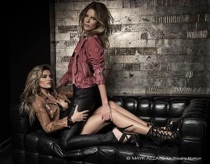 Sophia Thomalla und Julia Trainer posieren für Freaky Nation