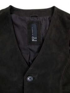 top schwarze Lederweste classic
