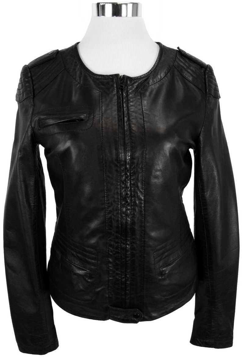 Lederjacke, eng und in schwarz für Damen