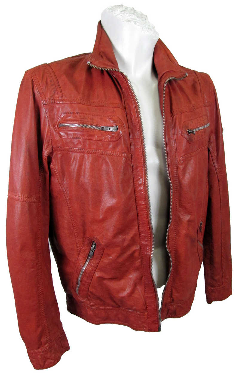 Rote (Burned Orange) Lederjacke