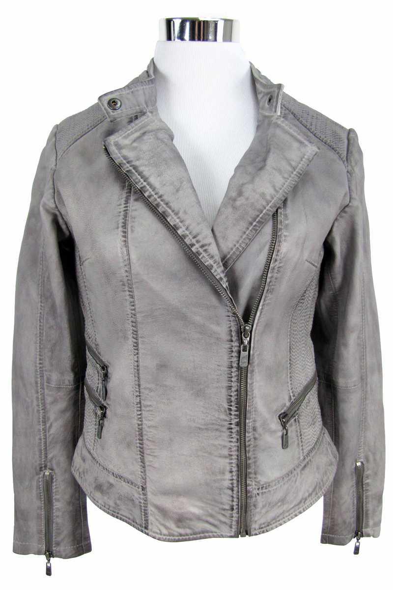 ungleich in der Leistung hochwertige Materialien farblich passend Jilani - Damen Lederjacke Jacke Lammnappa grau | 99,95 EUR