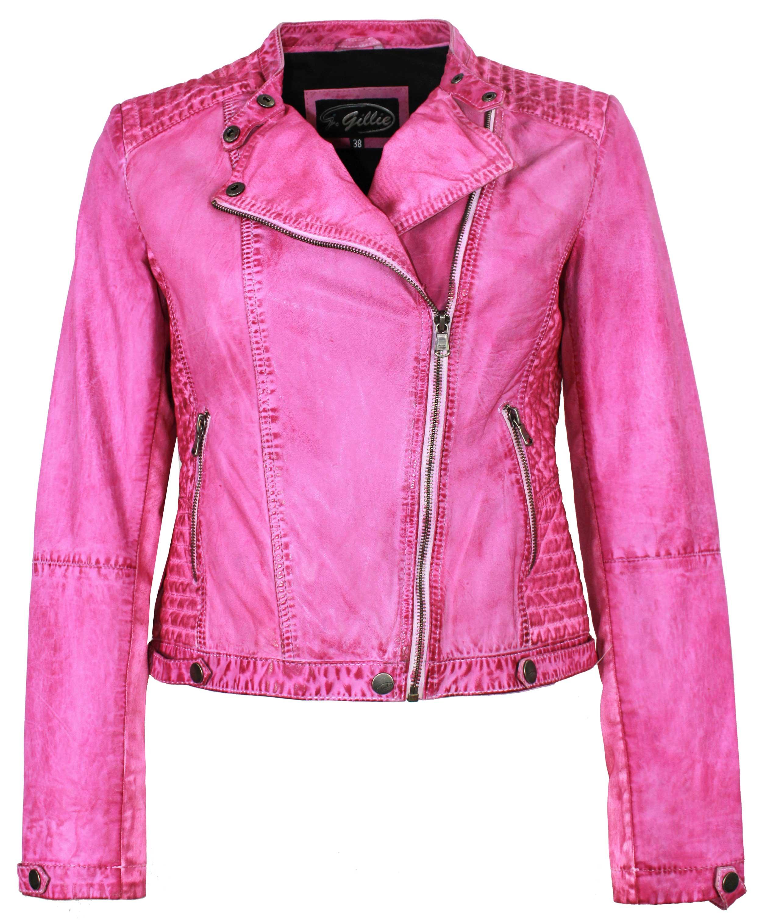 outlet beste Qualität für suche nach neuesten J.Gillie - Damen Lederjacke Bikerjacke Materialmix Lammnappa pink | 99,95  EUR