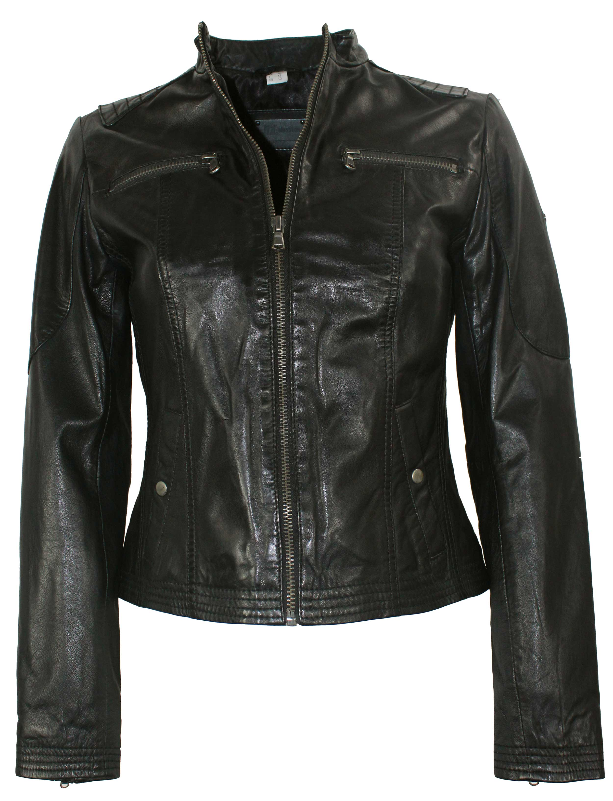 Damen Lammnappa Lederjacke, Größe 42 von JCC in schwarz mit