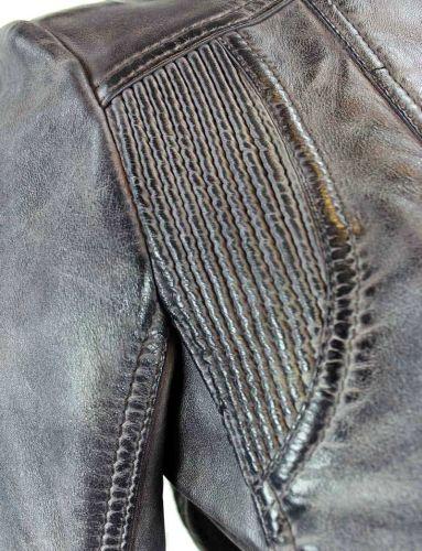 Jilani Damen Lederjacke Lammnappa Biker grey flieder
