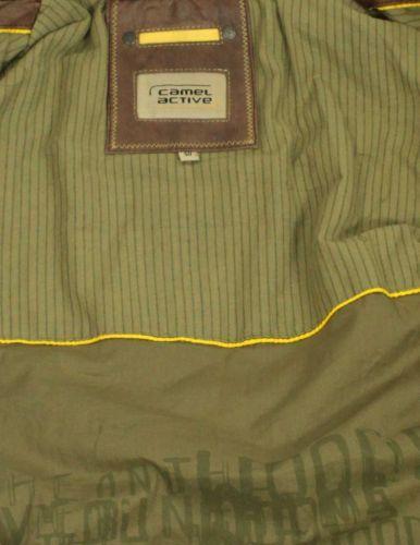 Details zu Camel active Herren Lederjacke Jacke Kurzjacke Lammnappa cognac