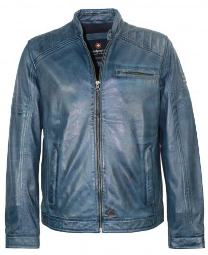 das Neueste 40116 c70f4 Details zu Redpoint - Herren Lederjacke Lammnappa blau