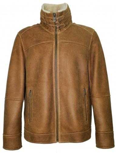 low priced 3d02b dbf05 Details zu Jilani - Herren Lammfelljacke Lederjacke beige-camel