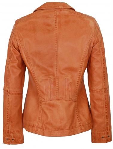 Lammnappa Blazer Orange Damen Details Lederjacke Zu doxCerB